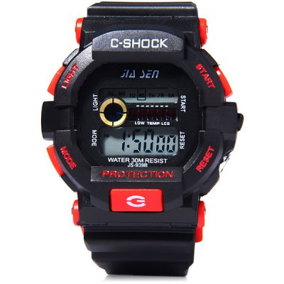 Jiasen 939B LED Sports Military Watch Week Date Alarm 30M Water Resistant