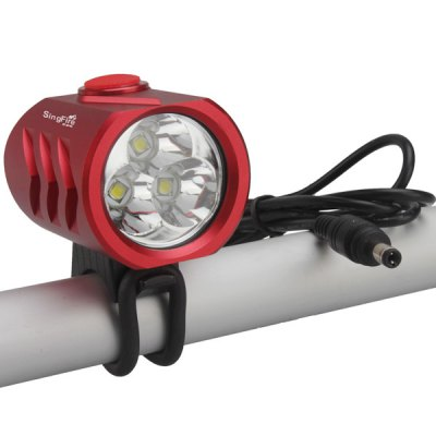 SingFire SF - 814A 3 x CREE XML T6 2400Lm 5 - Mode Water Resistant 18650 LED Cycling Headlight