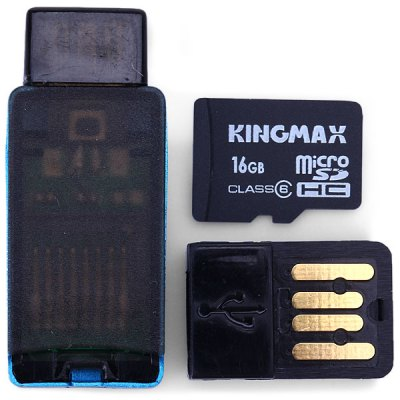 KingMax High Compatibility 2 In 1 OTG Card Reader And 16GB Micro SD Ca