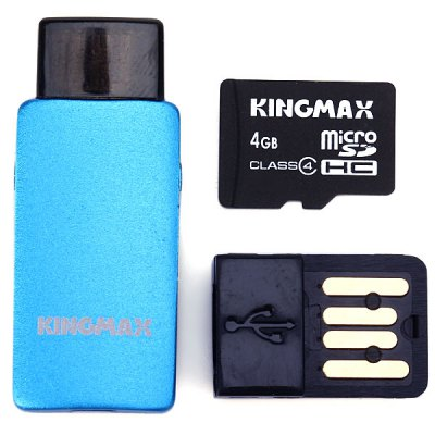 KingMax High Speed 2 in 1 OTG Card Reader + 4GB Micro SD Card for Android OTG Phone от GearBest.com INT