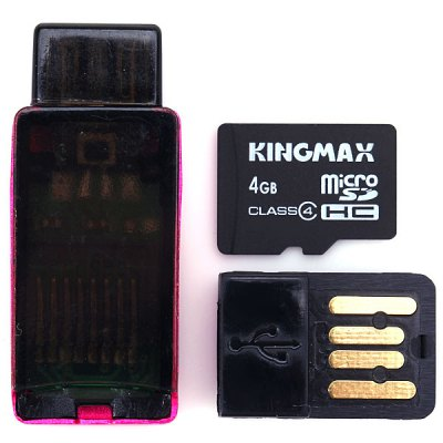 KingMax High Speed 2 in 1 OTG Card Reader + 4GB Micro SD Card for Android OTG Phone
