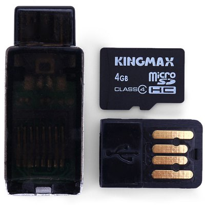 Гаджет   KingMax High Speed 2 in 1 OTG Card Reader + 4GB Micro SD Card for Android OTG Phone
