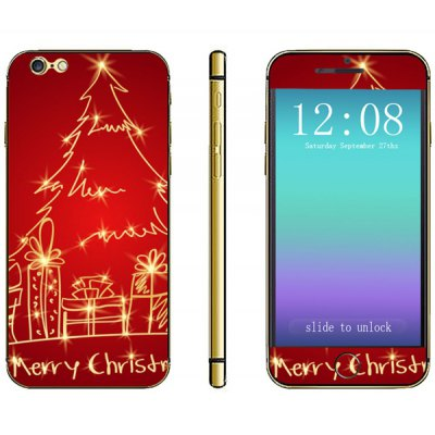 Phone Sticker Full Body Protective Sticker with Christmas Tree Pattern for iPhone 6  -  4.7 inches