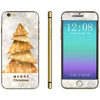 Anti - scratch Phone Sticker Decal Skin with Christmas Tree Style for iPhone 6  -  4.7 inches