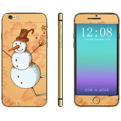 Anti - scratch Phone Sticker Decal Skin with Snowman Style for iPhone 6  -  4.7 inches