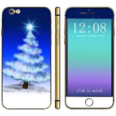 Anti - scratch Cell Phone Full Body Sticker with Christmas Tree Star Style for iPhone 6  -  4.7 inches