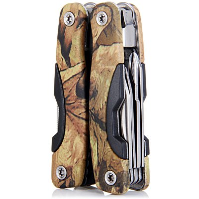 Multifunctional 13 in 1 Camouflage Plier Pinchers Knife Saw Household Outdoor Activities Gadgets  -  Small Size