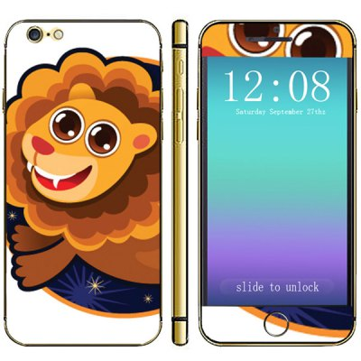 Cartoon Design Phone Decal Skin Protective Full Body Sticker  -  Lion PatternCases &amp; Leather<br>Cartoon Design Phone Decal Skin Protective Full Body Sticker  -  Lion Pattern<br><br>Compatible for Apple: iPhone 6<br>Features: Stickers<br>Material: Vinyl<br>Style: Special Design<br>Product weight : 0.004 kg<br>Package weight : 0.25 kg<br>Product size (L x W x H): 14.2 x 6.9 x 0.3 cm / 5.6 x 2.7 x 0.1 inches<br>Package size (L x W x H) : 19.6 x 8.5 x 0.4 cm<br>Package contents: 1 x Sticker