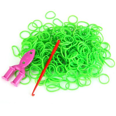 300pcs Rubber Bands with 9 Clips