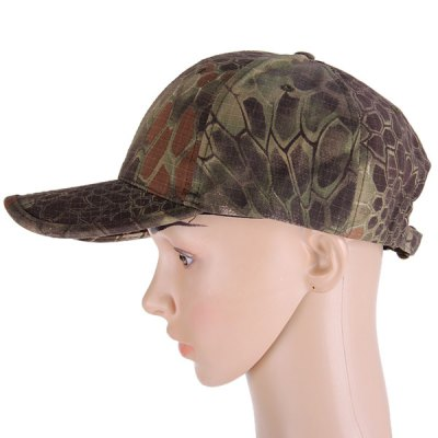 Cool Anaconda Pattern Peaked Cap Outdoor Anti - UV Camouflage Visors Baseball HatHats and Scarfs<br>Cool Anaconda Pattern Peaked Cap Outdoor Anti - UV Camouflage Visors Baseball Hat<br><br>Type: Cap<br>For: Outdoor sports or travel<br>Material: 35 Percent Cotton, 65 Precent Polyester<br>Color: Brown, Green, Black, Coffee<br>Product weight   : 0.074 kg<br>Package weight   : 0.120 kg<br>Product size (L x W x H)   : 26.0 x 21.0 x 13.0 cm / 10.2 x 8.3 x 5.1 inches<br>Package size (L x W x H)  : 27 x 22 x 14 cm<br>Package contents: 1 x Cap