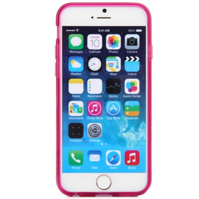 Гаджет   Practical TPU and PU Material Card Holder Back Case for iPhone 6  -  4.7 inches iPhone Cases/Covers