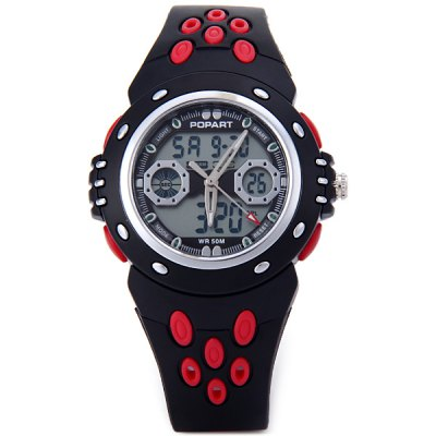Гаджет   Popart 786 LED Sports Watch 50M Water Resistant Dual Show Alarm Date for Children Sports Watches