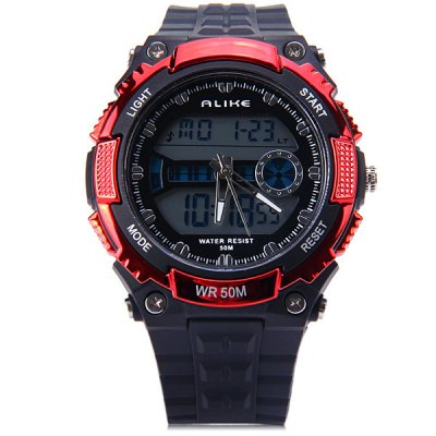 Alike 14110 Sports Military Dual Time LED Watch