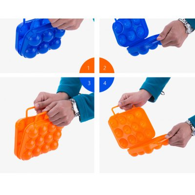 Plastic Shockproof Eggs Storage Box Carrier Holder Case with Handle Household Outdoor Camping Gadgets от GearBest.com INT