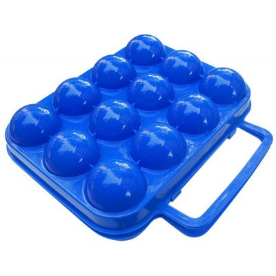 Portable Plastic Shock - resistance Eggs Storage Box Carrier Holder with Handle Outdoor Kitchen Supplies