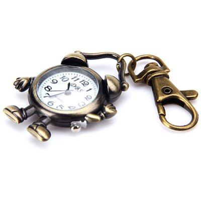 Гаджет   Clock Pattern Key Chain Pocket Watch