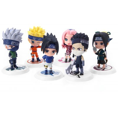 6pcs Naruto Cute Figures Set Japanese Anime