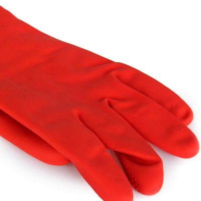 Фотография 1 Pair Long Thick Latex Gloves with Velvet for Washing Cleaning Home Necessary