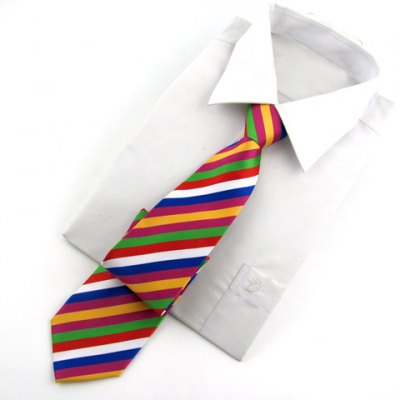 ФОТО Chic Colorful Stripe Pattern Design Neck Tie For Men