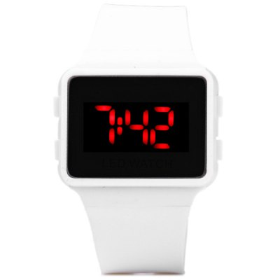 LED Digital Watch Children Wristwatch Rubber Band Pin Buckle