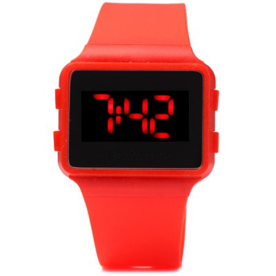 LED Digital Watch Children Wristwatch Rubber Band Pin BuckleSports Watches<br>LED Digital Watch Children Wristwatch Rubber Band Pin Buckle<br><br>People: Children watch<br>Watch style: Outdoor Sports, LED<br>Available color: Black, White, Red, Blue<br>Shape of the dial: Square<br>Movement type: Digital watch<br>Display type: Digital<br>Case material: Plastic<br>Band material: Rubber<br>Clasp type: Pin buckle<br>Special features: Day, 12/24 hours switch, Month<br>The dial thickness: 0.7 cm / 0.3 inch<br>The dial diameter: 3 cm / 1.2 inches<br>The band width: 2.3 cm / 0.9 inch<br>Product weight: 0.025 kg<br>Product size (L x W x H) : 23 x 4.3 x 0.7 cm / 9.1 x 1.7 x 0.3 inches<br>Package contents: 1 x Watch