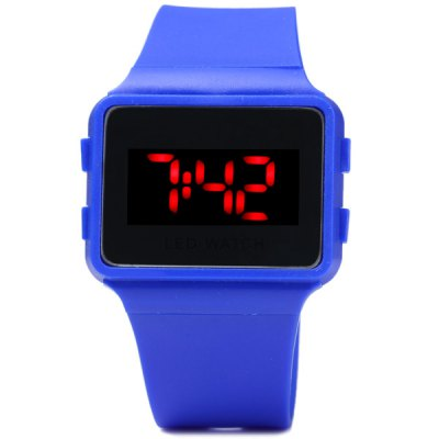 Гаджет   LED Digital Watch Children Wristwatch Rubber Band Pin Buckle Sports Watches