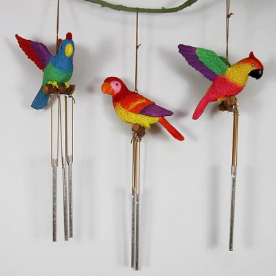 Гаджет   1pc Resinic Parrot Pattern Wind Chime Home Ornaments Christmas Supplies Gift Home Gadgets