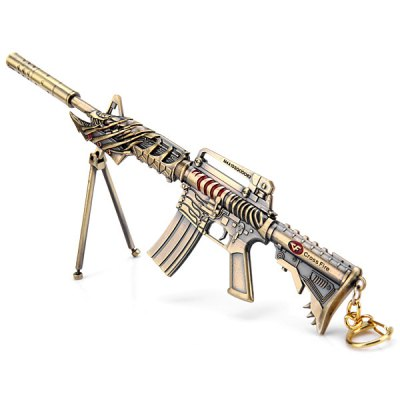 Hot Game Cross Fire CF Dragon Gun Model Toy Key Ring Classic Collection Unique Gift