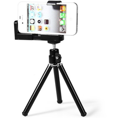 Mobile Phone Cilp Holder Stand Camera Tripod