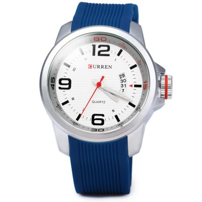 Гаджет   Curren 8174 Men Quartz Watch with Day Round Dial Rubber Band Men