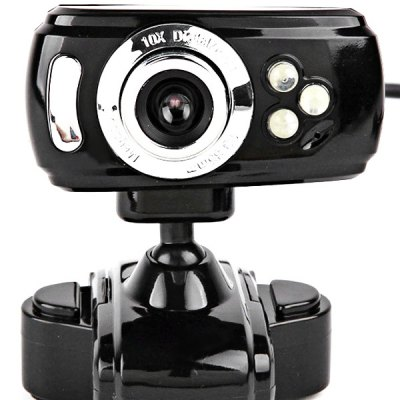 Фотография RX198 5.0 Mega Pixel HD Web PC Camera Webcam Built - in LED Light with 360 Degree Rotating Function Support Voice Call