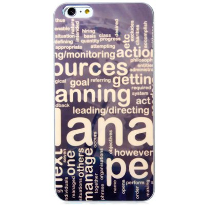Гаджет   Fashionable TPU Material Letter Pattern Back Cover Case for iPhone 6 Plus  -  5.5 inches iPhone Cases/Covers