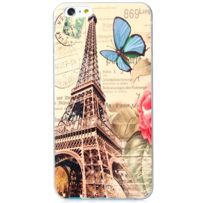 ФОТО Fashionable TPU Material Iron Tower Pattern Back Cover Case for iPhone 6 Plus  -  5.5 inches