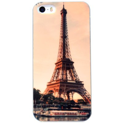 ФОТО Fashionable TPU Material Iron Tower Pattern Back Cover Case for iPhone 5 5S
