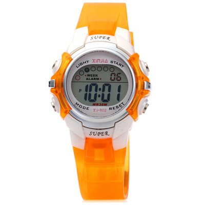 Гаджет   Xinjie 802 LED Sports Watch 30M Water Resistant Alarm Week for Children Sports Watches