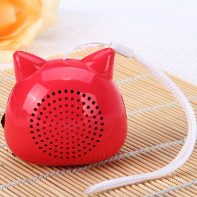 Гаджет   Cute Animal Fox Shape Sound Speaker Audio Player Built - in FM Radio Support TF Card USB Input Speakers