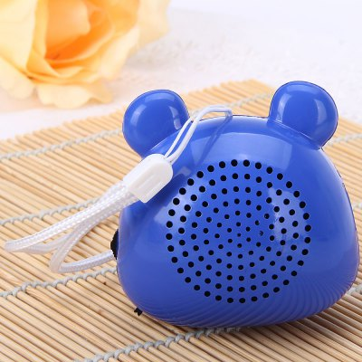 Гаджет   Innovative Mouse Style Loud FM Radio Speaker Audio Stereo for iPhone Smartphone Computer MP3 MP4 Player Speakers