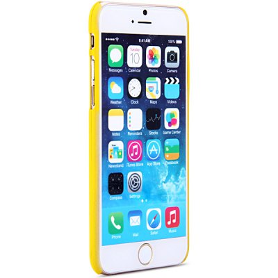 ФОТО New Dual Colors Fluorescent Transparent PC Back Case Cover of Bee Pattern for iPhone iPhone 6  -  4.7 inches
