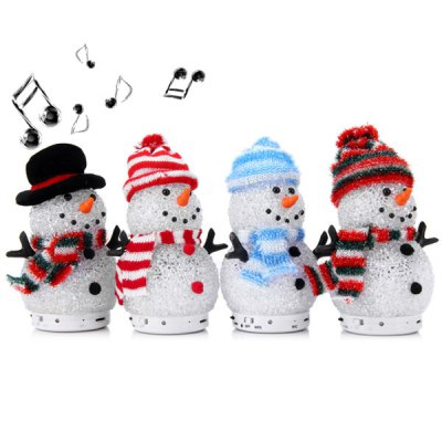 Гаджет   QC001 LED Shining Crystal Wireless Bluetooth Hands - free Call Christmas Snowman Speaker for iPhone 6 Plus 6 5S 5C 5 4S 4  -  1pc