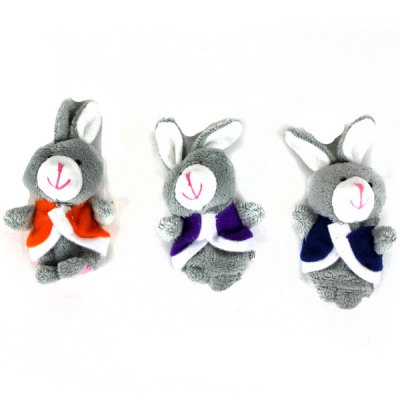 3pcs Rabbit Style Plush Toy Finger Puppets for Telling Story Supplies