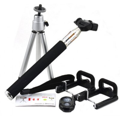 Jtron 3 in 1 Remote Shutter Wireless Bluetooth 3.0 Great Self - timer Tool Set with Monopod Tripod for Home Outdoor