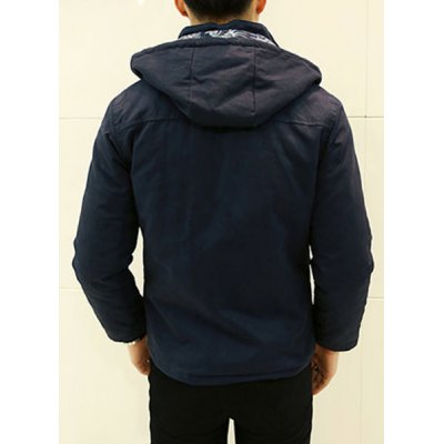 Гаджет   Stylish Hooded Detachable Slimming Multi-Pocket Long Sleeve Thicken Cotton Blend Coat For Men Jackets & Coats