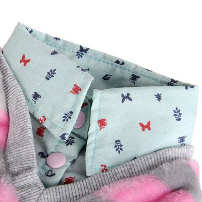 Фотография XXS Size Warm Pet Clothes Stripe Style Collared Shirt for Doggy