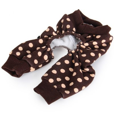 L Size Warm Pet Clothes Dot Style Clothing for Doggy