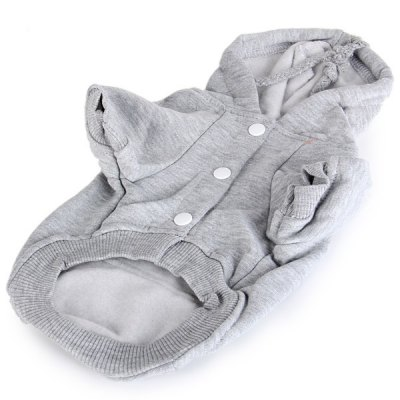 L Size Warm Pet Clothes Outwear with Cap for DoggyDog Clothing &amp; Shoes<br>L Size Warm Pet Clothes Outwear with Cap for Doggy<br><br>For: Dogs<br>Type: Cloth<br>Features: Hoodie Style<br>Size: XL, XXL, XS, S, M, L<br>Season: Spring, Summer, Autumn<br>Color: Gray<br>Package weight   : 0.130 kg<br>Package Contents: 1 x Pet Clothes