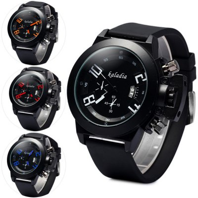 Kaladia 8911 Male Quartz Watch Round Dial Rubber Strap
