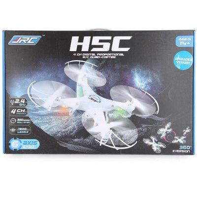 ФОТО JJRC H5C 4 Channel 6 Axis Gyro 2.4GHz RC Quadcopter with 3D Rolling Function LED Light