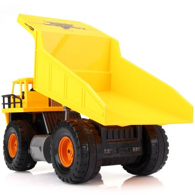 High Performance RC Dump Truck Model Toy 8Channel Bulldozer Engineering Vehicle with Multifunction  -  0115Other RC Toys<br>High Performance RC Dump Truck Model Toy 8Channel Bulldozer Engineering Vehicle with Multifunction  -  0115<br><br>Type: RC Trucks, RC Cars<br>Features: Radio Control<br>Functions: Turn left/right, Full function, Forward/backward, With light, Forward / Turn light<br>Material: Plastic<br>Remote Control: Radio Control<br>Channel: 6-Channels<br>Transmitter Power: 2 x 1.5V AA battery(included)<br>Car Power: Built-in rechargeable battery<br>Product Weight   : 0.69 kg<br>Package Weight  : 1.459 kg<br>Product Size (L x W x H)   : 31 x 16 x 16 cm / 12.2 x 6.3 x 6.3 inches<br>Package Size (L x W x H) : 53.5 x 19.5 x 27.5 cm<br>Package Contents: 1 x Digger, 1 x RC Controller, 1 x Adapter, 1 x 4.8V 700mAh LJ Battery, 2 x 1.5V AA Battery, 4 x Traffic Sign, 1 x Traffic Tool