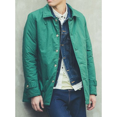 Гаджет   Stylish Turndown Collar Slimming Candy Color Long Sleeve Thicken Cotton Blend Coat For Men Jackets & Coats