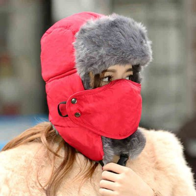 Гаджет   2 in 1 Multifunctional Lei Feng Cap Warm Hat Mask Set for Winter Outdoor Activities Hats and Scarfs